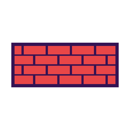 brick wall construction concret image vector illustration Ilustrace