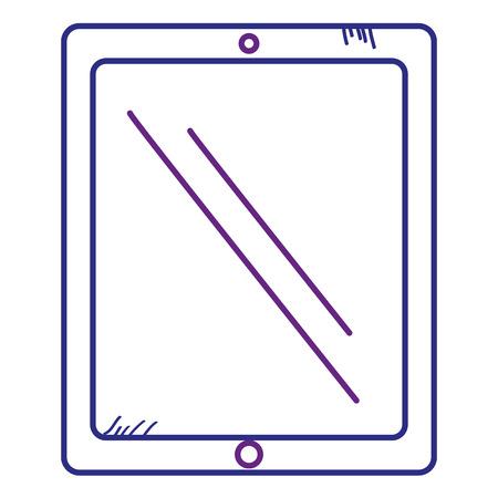 태블릿 장치 격리 된 아이콘 벡터 일러스트 레이 션 디자인