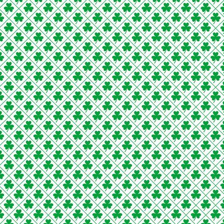 Seamless pattern clovers for st patricks day vector illustration