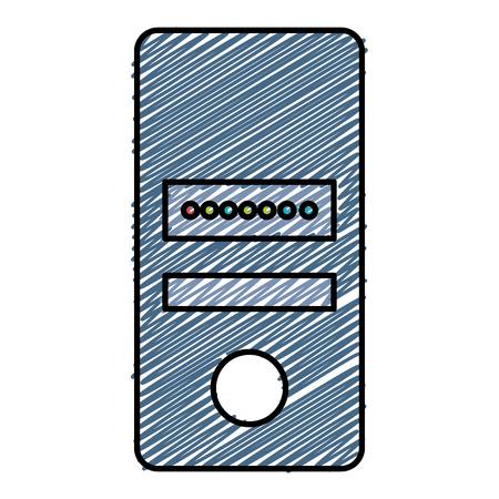 데이터 서버 컴퓨터 아이콘 벡터 일러스트 디자인