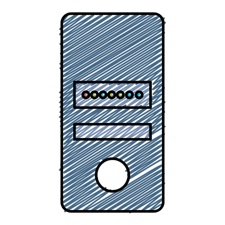 Data server computer icon vector illustration design