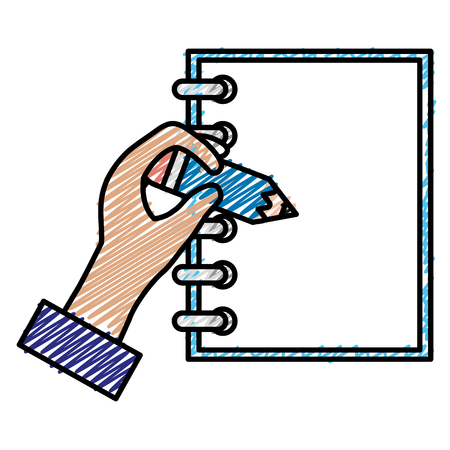 Notebook with hand writen vector illustration design Zdjęcie Seryjne - 93616045