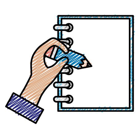 Notebook with hand writen vector illustration design Illustration