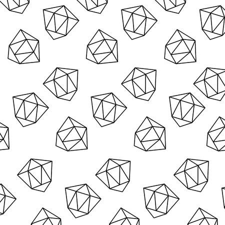 pattern style memphis diamond decoration design vector illustration