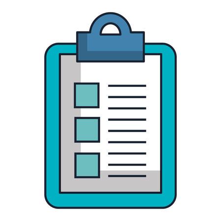 A clipboard with paper isolated icon vector illustration design