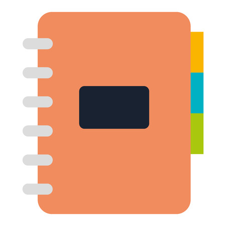 Office notebook with tabs vector illustration design