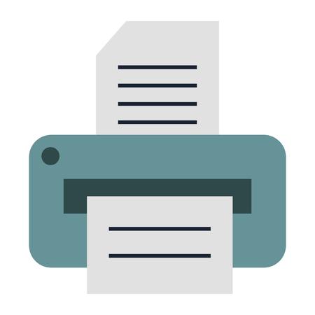 Vector de illustratieontwerp van het printerhardware geïsoleerd pictogram