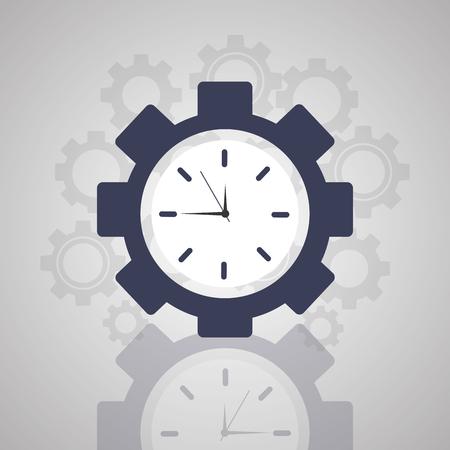 Time clock gear Çizim
