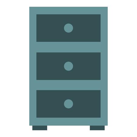 office drawer isolated icon vector illustration design Çizim
