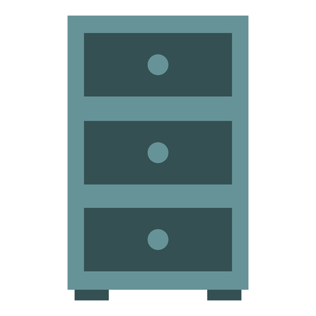 office drawer isolated icon vector illustration design Illustration