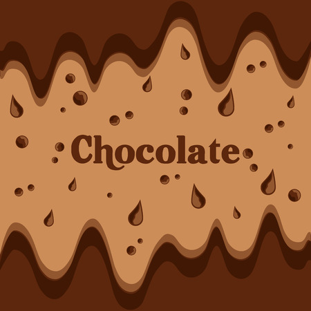 melted chocolate streams dripping image vector illustration