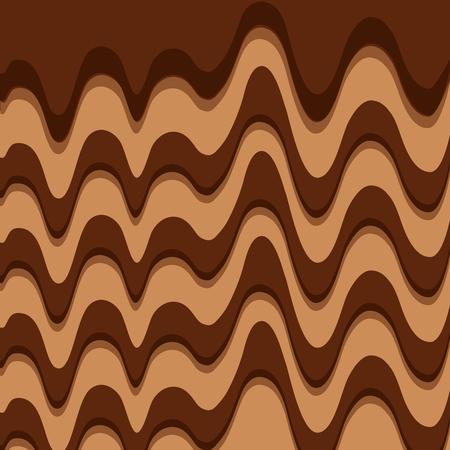 Melted chocolate sweet pattern design vector illustration Ilustração