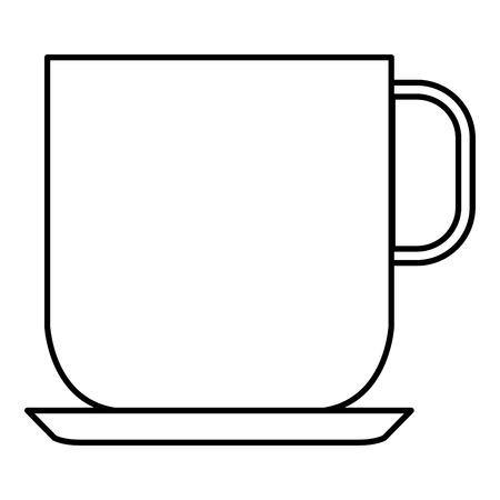 커피 컵 격리 아이콘 벡터 일러스트 디자인
