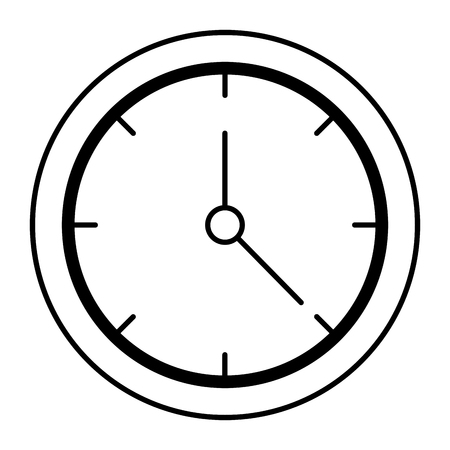 A time clock isolated icon vector illustration design 版權商用圖片 - 93607749