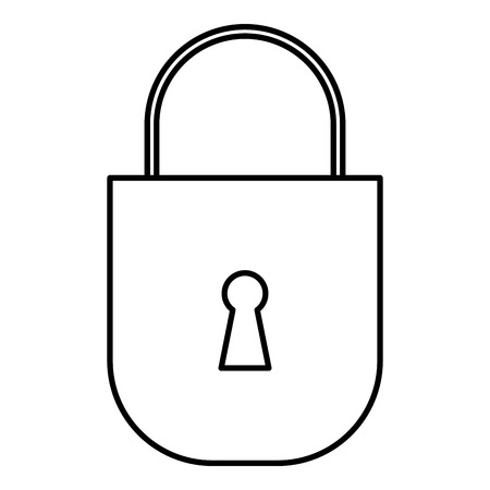 safe secure padlock icon vector illustration design Фото со стока - 93627305