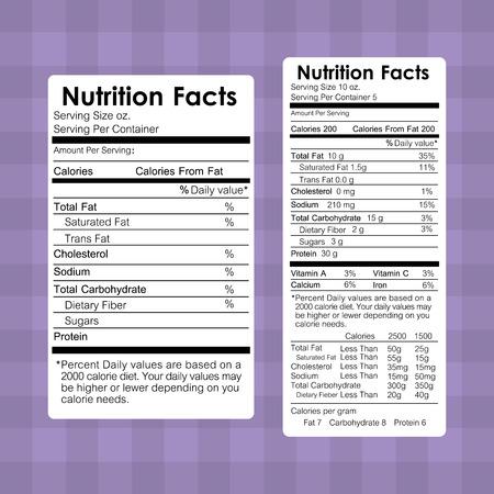 nutrition facts food labels information healthy vector illustration Illustration