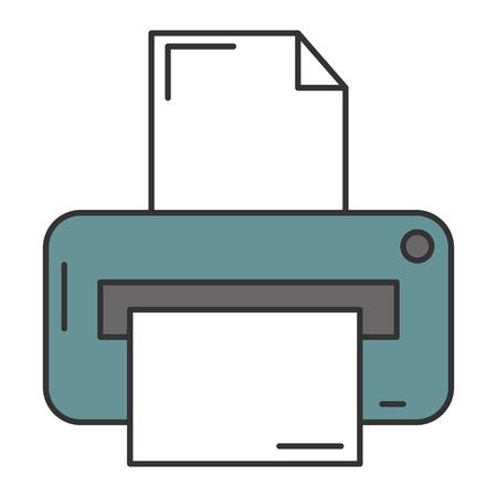 Printer hardware isolated icon vector illustration design