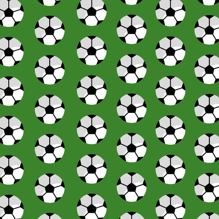 Seamless pattern soccer ball sport club vector illustration Illusztráció