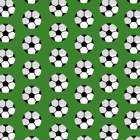 Seamless pattern soccer ball sport club vector illustration Illustration