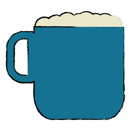 커피 컵 절연 아이콘 벡터 일러스트 디자인