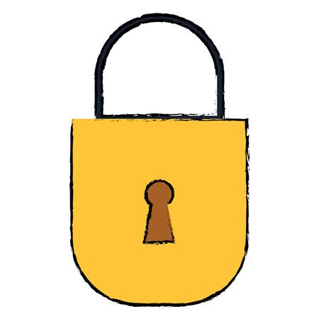 Progettazione sicura dell'illustrazione di vettore dell'icona del lucchetto sicura Archivio Fotografico - 93788814
