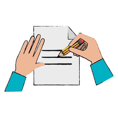 paper document with hand writen vector illustration design Illustration