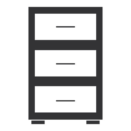 Office drawer isolated icon vector illustration design