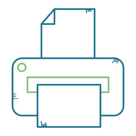 프린터 하드웨어 격리 아이콘 벡터 일러스트 디자인