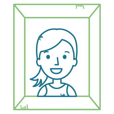 Portrait with woman picture vector illustration design