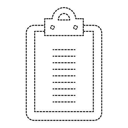클립 보드 종이 고립 된 아이콘. 벡터 일러스트 레이 션 디자인. 스톡 콘텐츠 - 93612988
