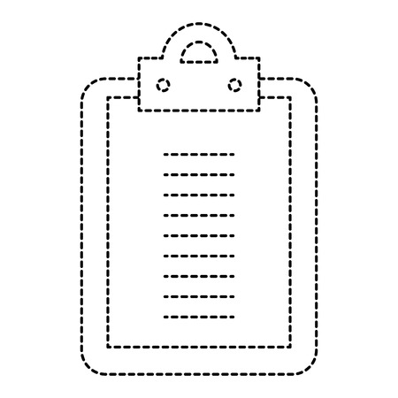 Clipboard paper isolated icon. Vector illustration design.