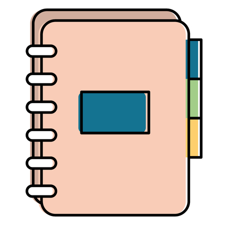 Office notebook with tabs. Vector illustration design.