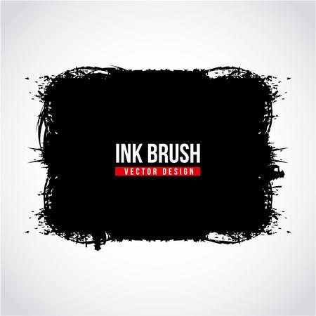 Ink brush grunge paint element smear stain texture vector illustration 向量圖像
