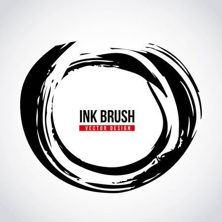 ink brush grunge paint element smear stain texture vector illustration