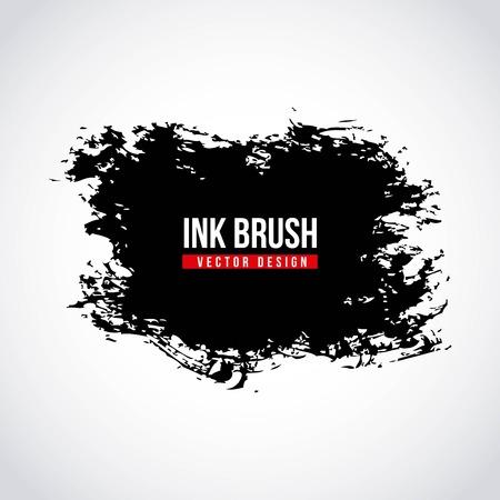 Ink brush grunge paint stain texture Illustration