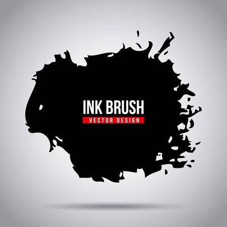 잉크 브러시 grunge 페인트 얼룩 텍스처