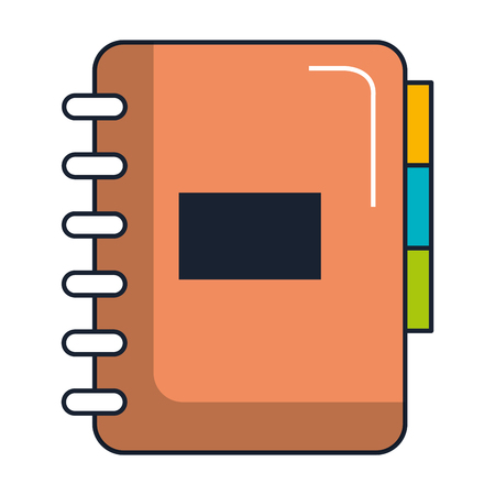 Office notebook with tabs vector illustration design.