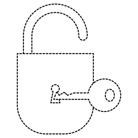 키 벡터 일러스트 레이 션 디자인 안전 안전 자물쇠입니다. 일러스트