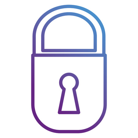 A safe secure padlock icon vector illustration design Illustration