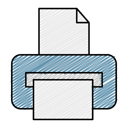 printer hardware isolated icon vector illustration design