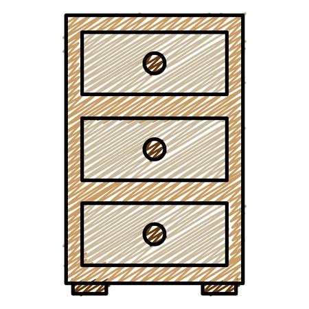 Progettazione dell'illustrazione di vettore dell'icona isolata cassetto dell'ufficio. Archivio Fotografico - 93656264