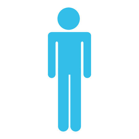 male human figure silhouette vector illustration design