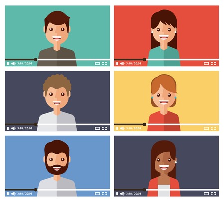 avatar community video viral content internet vector illustration