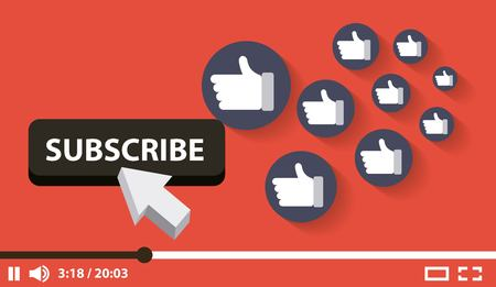 subscribe video digital likes followers vector illustration