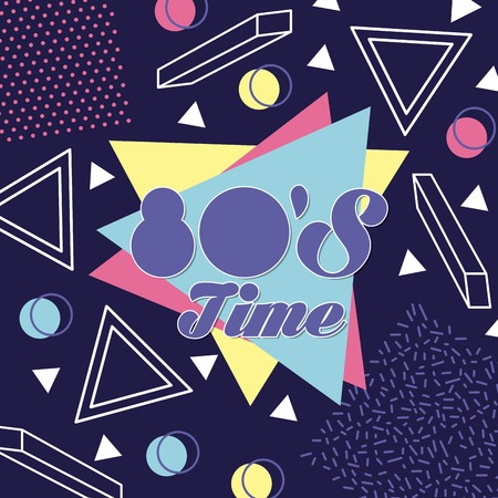 memphis style pattern 80 time vintage vector illustration