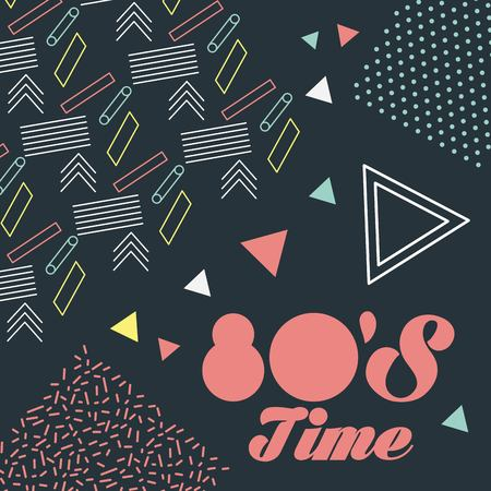 memphis style pattern retro fashion style 80 time vector illustration Иллюстрация