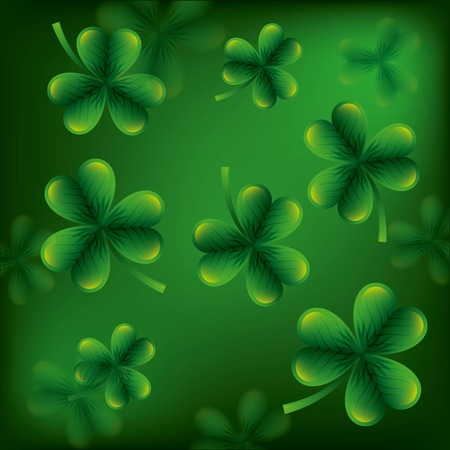 st patricks day clovers seamless pattern vector illustration