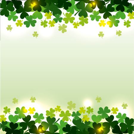 St patricks day clovers seamless pattern vector illustration 免版税图像 - 93747452