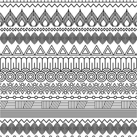 幾何学的抽象的なエスニック・オリエンタル・シームレス・パターン 伝統的なベクトル・イラストレーション