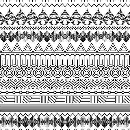 geometric abstract ethnic oriental seamless pattern traditional vector illustration Stock fotó - 93657587
